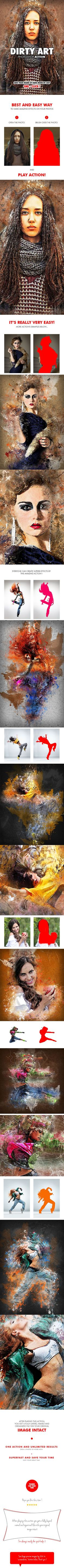 Dirty Art Photoshop Action - Photo Effects Actions