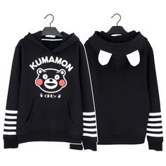 Girly Girl Originals Sweater on Girly Girl の To Alice.Girly Anime Kumamon Hood Sweater Cute Cotrast Fleeces G-G175 Ideal gift for your girl,lover and friend.