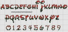 Cross Stitch Numbers, Cross Stitch Letters, Cross Stitch Boards, Fuse Beads, Hama Beads, Disney Letters, Crochet Alphabet, Alphabet And Numbers, Mickey And Friends