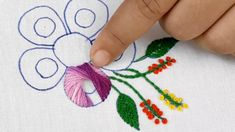 Hand Embroidery amazing flower design super easy stitch for dress Hand Embroidery Videos, Embroidery Stitches, Embroidery Patterns, Embroidery Art, Flower Embroidery Designs, Flower Designs, Bordado Floral, Easy Stitch, Brazilian Embroidery