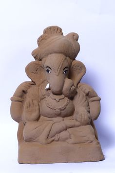 The Dagadu Seth Ganpati #murti is made from 100% #ecofriendly materials that are also in compliance with Vedic directions.   #ganesha #ecofriendlyganesha #ganesh