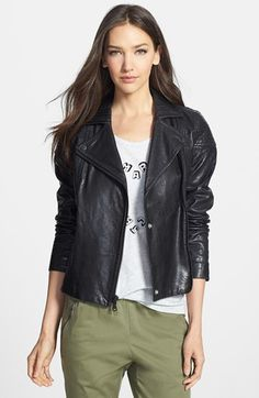 MARC BY MARC JACOBS 'Karlie' Leather Moto Jacket