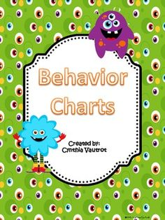 Use this behavior chart to keep track of your student's behavior for 6 weeks.See my coordinating Back-to-School Monster Theme....