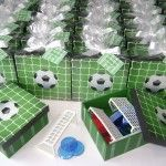 Soccer theme wedding favour. Cute idea