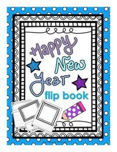 New Years Flip BookThis Product Includes:1. A New Years-themed flip book with 5 tabs. Including the back, students have 6 opportunities to write and 5 to draw an illustration to accompany their writing.2. Instructions for printing and assembling included.3.