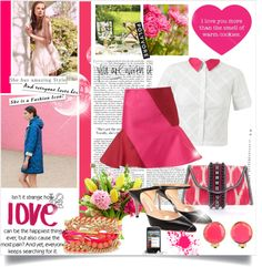"""""""Love Pink"""" by rose-thulian on Polyvore"""