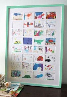Custom frame your children's drawings