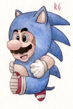 Mario's Sonic Suit, someone just broke the 90's.