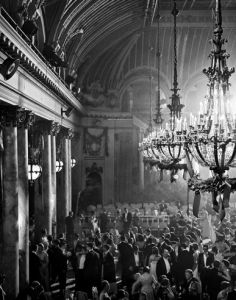 Fred Lyon's Cotillion in Palace Hotel, Palm Court, 1958.