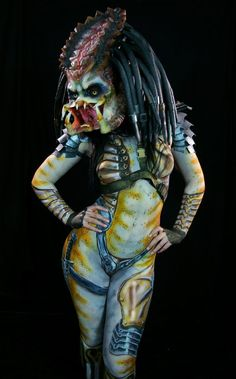 Obvious Winner - So Easy To See The Awesomeness - ow - Female Predator Body Paint is Something Your Eyes Need to See