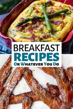 These amazing breakfast recipes are going to have you firing up your grill, flat top, oven, and stove every weekend from here to infinity. Egg Recipes For Breakfast, Vegetarian Breakfast, Quick And Easy Breakfast, Brunch Recipes, Breakfast Ideas, Banana Crumb Cake, Easy Homemade Pancakes, Banana Protein Pancakes, French Toast Muffins