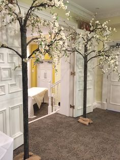 Floor Standing dainty blossom trees x 7.5 foot tall