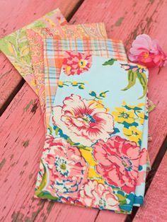 Garden Patchwork Napkin Set/4 | Table Linens & Kitchen, Napkins & Napkin Rings :Beautiful Designs by April Cornell