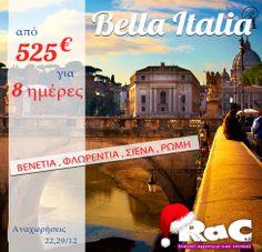 8ημερη εκδρομή στην Ιταλία (Ρώμη - Φλωρεντία - Σιένα - Βενετία ) ! Travel Agency, Movies, Movie Posters, Films, Film Poster, Cinema, Movie, Film, Movie Quotes