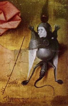 Hieronymus Bosch (I swear, was there anything he painted that wasn't creepy, or f*cked up? Hieronymus Bosch, Arte Tribal, Art Optical, Garden Of Earthly Delights, Macabre Art, Unusual Art, Dutch Painters, Medieval Art, Fantastic Art