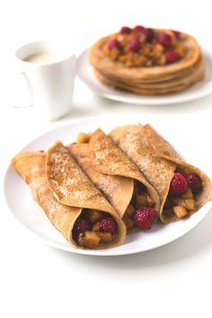 Vegan gluten free crepes   simpleveganblog.com #vegan #glutenfree