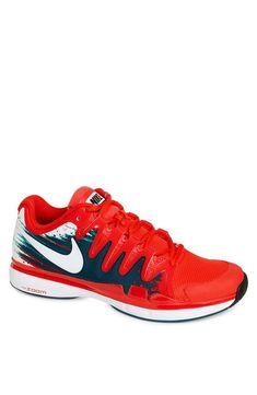 Red Hot Tennis Shoe