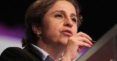 """La periodista Carmen Aristegui anunció hoy que demandará al Estado mexicano ante la Comisión Interamericana de Derechos Humanos (CIDH) por """"obstrucción a la justicia"""" en el litigio que mantiene con el grupo MVS por su despido el pasado marzo."""