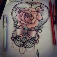 neo-traditional lace tattoo - Google Search