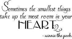 small things...