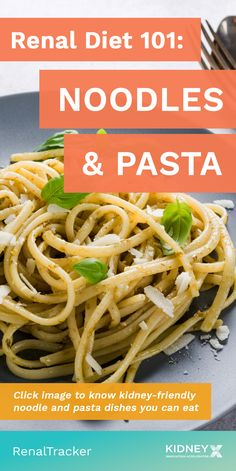Pasta and noodles can be added to your renal diet but just watch out for tomato sauces as it may contain high levels of sodium, potassium, and added sugar. Click image to learn more. BONUS: Kidney-friendly noodle and pasta recipes Kidney Recipes, Diet Recipes, Healthy Recipes, Pasta Recipes, Healthy Kidney Diet, Kidney Health, Healthy Kidneys, Kidney Foods, Kidney Beans