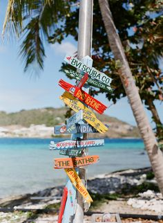 Colorful Caribbean Signage at beach in the British Virgin Islands! Caribbean Vacations, Caribbean Cruise, Royal Caribbean, Us Virgin Islands, British Virgin Islands, Virgin Gorda, Adventure Is Out There, Island Life, Signage