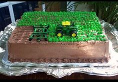 John Deer Cake...but we would make it a farmall cake instead!