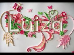 Quilling Typography Tutorial...  Tips:  Print letter, lay it on top of cardboard, and trace edges with embossing tool or pen to transfer outline of letter to the cardboard.