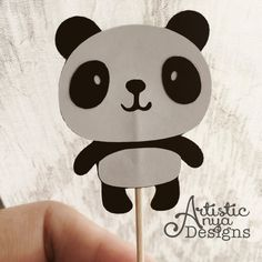 "This listing is for a set of 12 Handmade Panda-shaped Cupcake Toppers {Panda PandaMonium Collection} by Artistic Anya Designs & Events ********** DETAILS ********** 12 Cupcake Toppers - Panda Shape approximately 2"" Standard Toothpick Entire Cupcake Topper measures approximately 3"" high These are adorable PANDA CUPCAKE TOPPERS to decorate your cupcakes in style, made to coordinate with our ""Panda PandaMonium Collection"" for a Panda Birthday or Panda Baby Shower. ************** EVENT DATE *..."