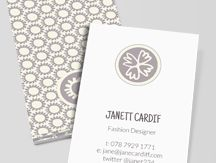gray + white business card