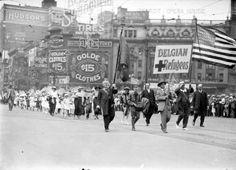 (77772) Ethnic Communities, Belgian, World War I, Parade, c. 1918