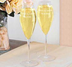 """Luigi Bormioli Crystal Toasting Glasses"" #PersonalizedGifts #WeddingGifts #Champagne"