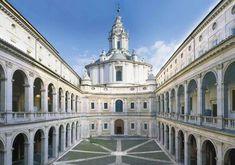 <p>Complesso di Sant'Ivo alla Sapienza, cortile esterno</p>