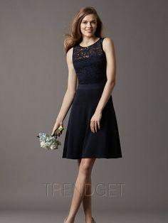 Lace A-line Chiffon Bateau Bridesmaid Dresses