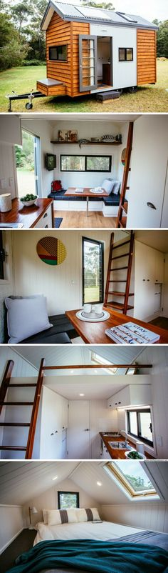 The Independent: an eco-friendly tiny house from Australia! // Tiny House Plans, Tiny House Plans, Small Bathroom Ideas, Small Living Room Ideas, DIY Room Decor, Space Saving Furniture, Under Bed Storage, Inspirational Tiny House Tree Houses, Bed Risers Ideas, and even Shabby Chic Furniture Ideas #tinyhouses #tinyhousemovement #tinyhouseforus #tinyhouseplans #tinyhouseforus #tinyhome