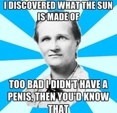 """Since her death in 1979, Cecilia Payne-Gaposchkin who discovered what the universe is made of has not received a memorial plaque. Her newspaper obituaries do not mention her greatest discovery. Every high school student knows that Isaac Newton discovered gravity and that Albert Einstein discovered the relativity of time. But when it comes to the composition of our universe, the textbooks say the most abundant atom in the universe is hydrogen. No one ever wonders how we know."" ~J. Knowles"