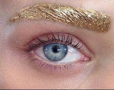 Metallic Brows #runwaybeauty #nyfw