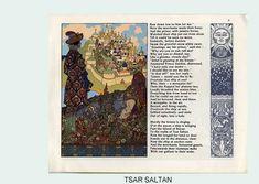 Ivan Bilibin, Tsar Salton 1905, Alphabet of Illustrators