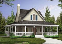 one story country house plans with wrap around porch and. Black Bedroom Furniture Sets. Home Design Ideas