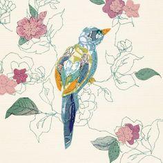 little bird - claire coles Textile Fiber Art, Textile Artists, Dickie Bird, Vintage Theme, Types Of Art, Bird Art, Vintage Paper, So Little Time, Picture Wall