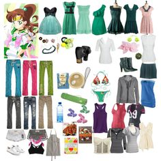 """""""Sailor Moon Inspired Collection: Sailor Jupiter's Closet"""" by everyonelovesablonde on Polyvore"""