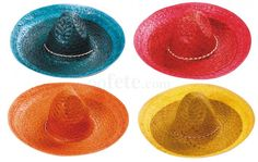 Party Pro 879002, Sombrero coloré 45cm  (par 1)