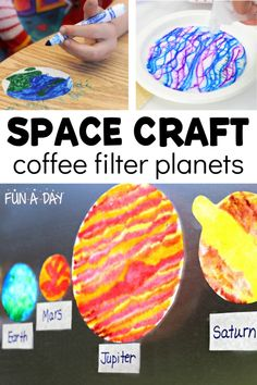 Planets Preschool, Space Preschool, Preschool Crafts, Preschool Teachers, Kindergarten Learning, Preschool Science, Preschool Ideas, Craft Ideas, Space Crafts For Kids
