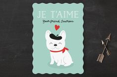 Frenchie Classroom Valentine's Cards by Susan Asbill at minted.com
