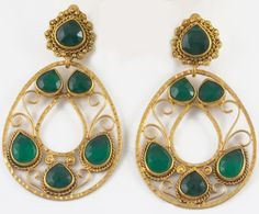 Faceted Jade Taxco Earrings by Patricia Peckinpaugh Jewelry