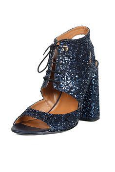 Glitter Sandal chunky heel Raoul lace up
