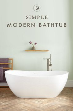 The Winifred Gloss Resin Freestanding Tub impresses with its beautiful look and simple shape. Featuring a build that makes it comfortable to recline while you bathe, this freestanding bathtub is the perfect choice for your master bathroom makeover.