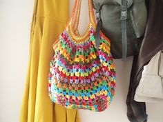 Gorgeous Granny bag!  Free pattern