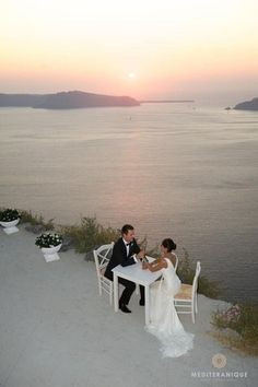 The wedding of your dreams in Santorini, Greece, one of the most romantic destinations in the world.