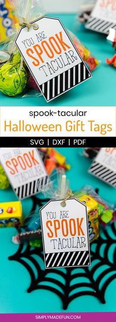 Spooktacular Halloween Gift Tags - Simply Made Fun .- Spooktacular Halloween Geschenkanhänger – Simply Made Fun – Spooktacular Halloween Gift Tags – Simply Made Fun – # Gift Tags - Halloween Teacher Gifts, Teacher Gift Tags, Teacher Treats, Halloween Tags, School Treats, Theme Halloween, Teacher Appreciation Gifts, Holidays Halloween, Happy Halloween